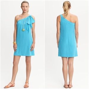 Trina Turk Banana Republic One-Shoulder Silk Dress